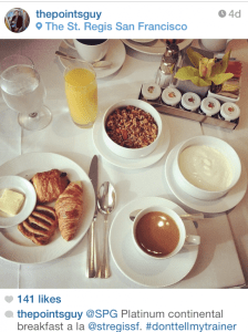 Delicious Platinum continental breakfast