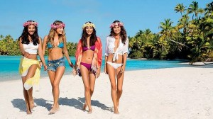 Air New Zealand features swimsuit models in their newest safety video.