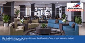 Earn 1200 Southwest Rapid Rewards points per stay at Best Western.