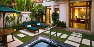 Villa at Banyan Tree with private jet pool.
