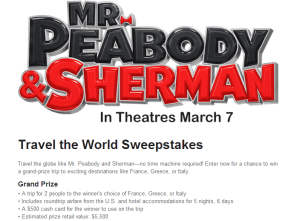 Win A Trip to Europe.