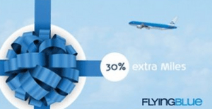 Buy miles for Flying Blue and get a 30% bonus.
