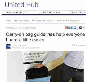 United says the new rules will speed up boarding.