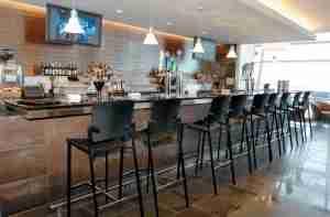 The bar at American
