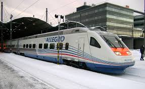 The Allegro from Helsinki to St. Petersburg.