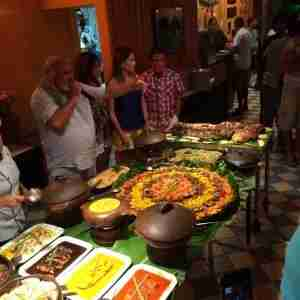 Just one small part of the buffet table at Ze Maria