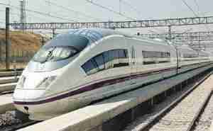 Spanish AVE high speed trains.