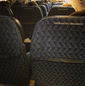 Uh, who stole the inflight entertainment screens?