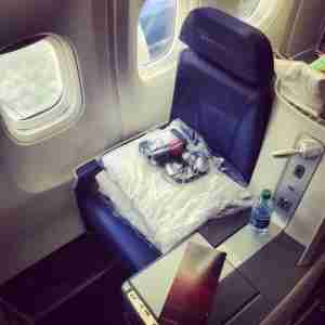The BusinessElite seat aboard Delta
