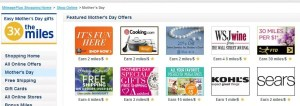 United has some Mother's Day shopping offers.