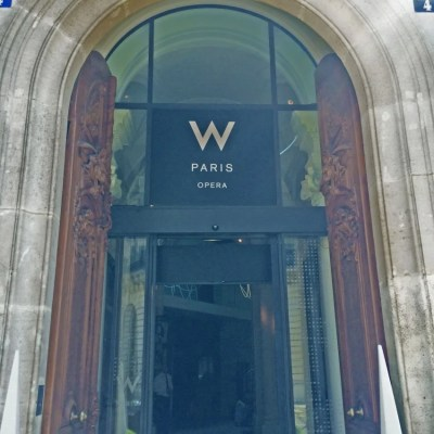 The grand entrance of the W Paris-Opera is even tall enough for me