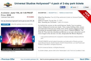 Four two-day passes to Universal Studios Hollywood