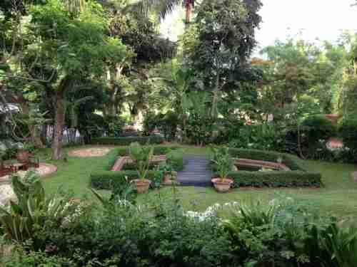The garden outside my room at 3 Nagas.