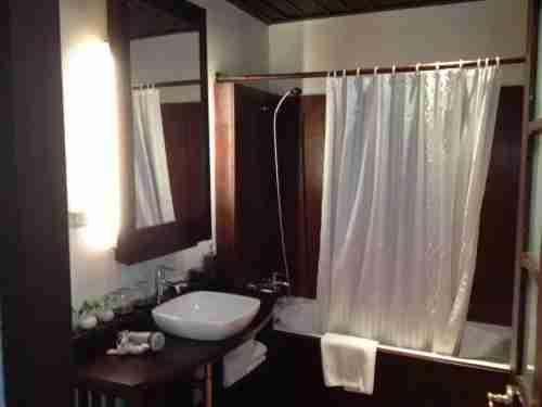The bathroom - spacious but not luxurious.