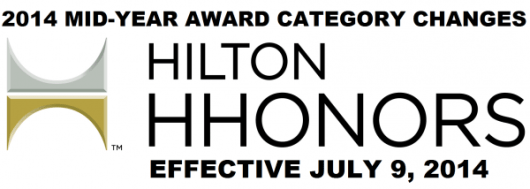Hilton posts their mid-season category changes, effective, July 9, 2014