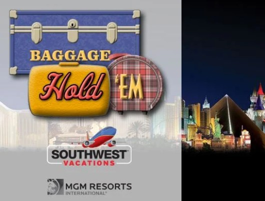 Play the Southwest Baggage Hold 'Em game to win a trip to Vegas