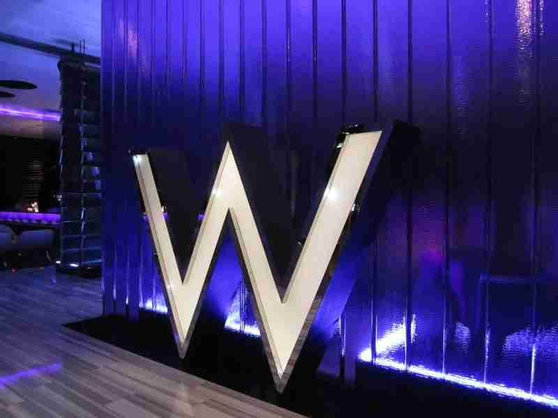 Giant W at the door of the W Bangkok, just in case you forgot where you were