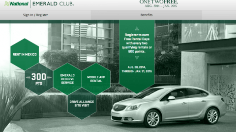 National S One Two Free Car Rental Promo Is Back The Points Guy