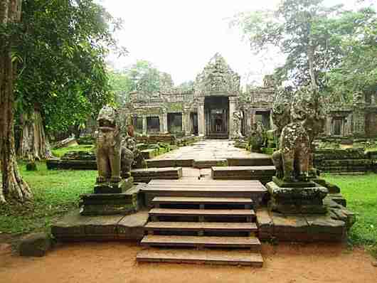 The deserted Preah Khan temple