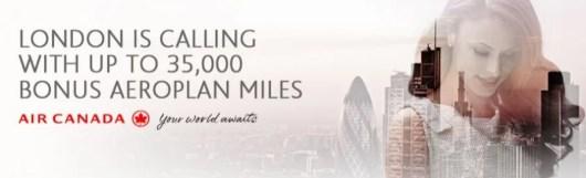 Earn bonus miles with fall flights to London