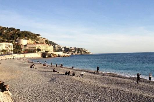 The beautiful plate in Nice.