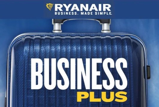 Ryanair is offering a new fare class, Business Plus