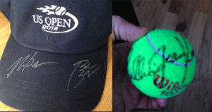An autographed hat by 2014 Men