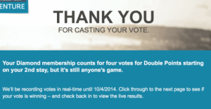 I personally voted for double points
