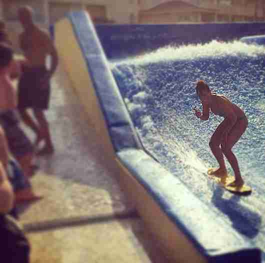 Testing my surf skills on the Flow Rider, what else?