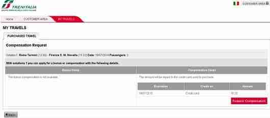 Receiving a $25 refund from the Italian railway was easy.