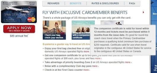 The US Airways Pass looks good, just be sure to check out their blackout dates a restrictions.