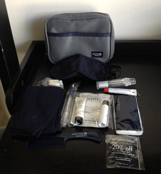 The amenity kit - pretty standard.