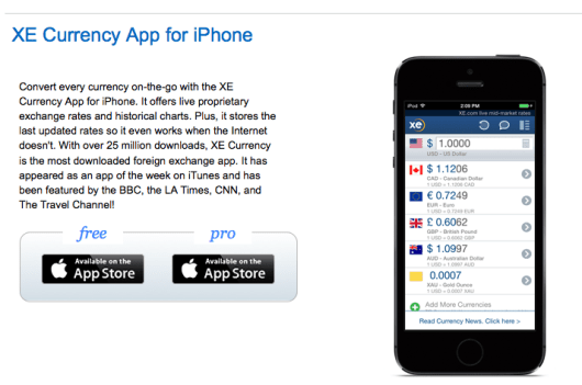 Forget dynamic conversion and just get a currency conversion app.