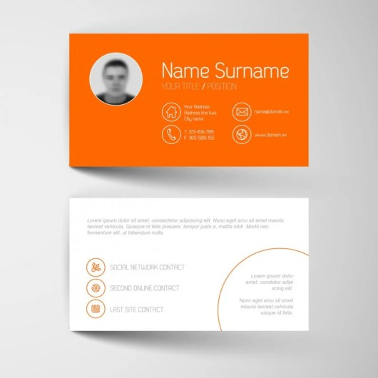 A business card with your photo may be worth a little extra cash