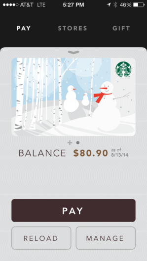Starbucks allows you to purchase food and drinks directly from their app!