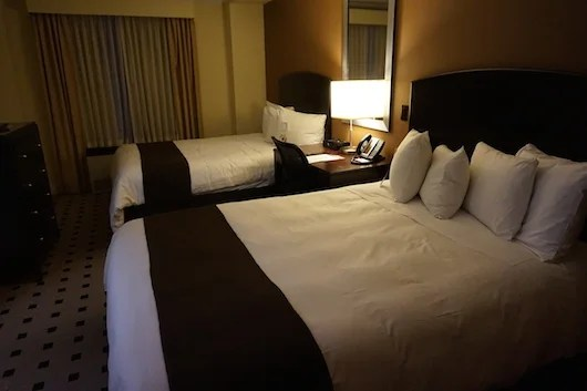 My Club Level room with not one, but two beds