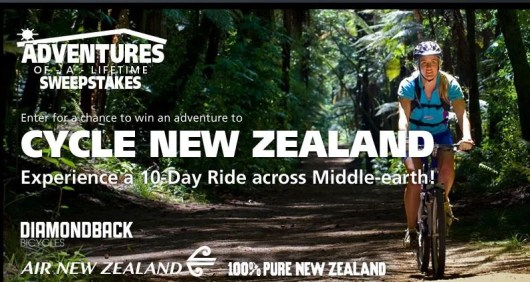 Win a cycling adventure to New Zealand