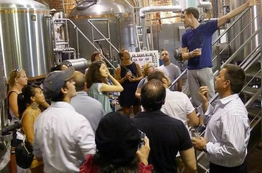 A tour of the barrels at Brooklyn Brewery