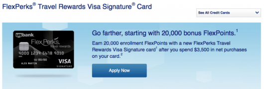 Here is the current FlexPerks Travel Rewards Visa offer.