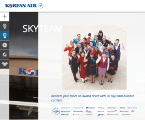 Korean Air lets you use miles for SkyTeam awards.