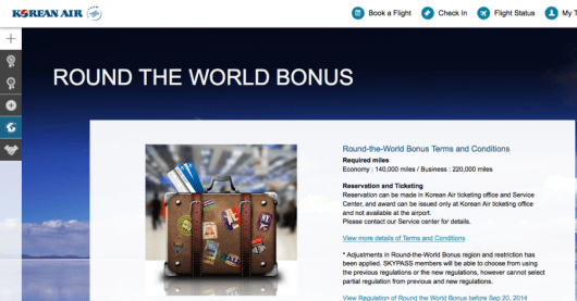 Korean now offers RTW awards as well.