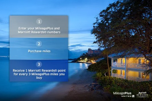 Earn Marriott Reward points for buying United MileagePlus miles.