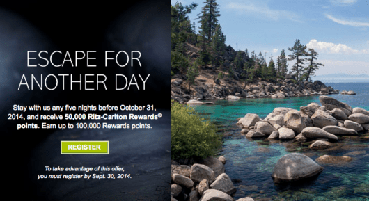 Ritz-Carlton Rewards is running two promotions for its members
