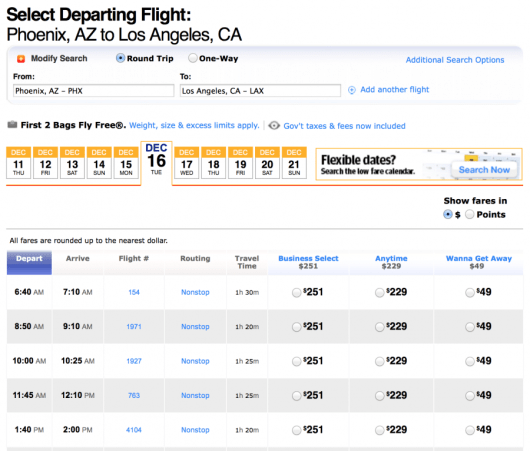 Book Phoenix to Los Angeles for $49 each-way.