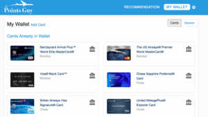 When you sign into Maximizer you can view your current wallet and add new cards.