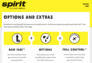 Spirit will charge you for everything from carry-on bags to water.