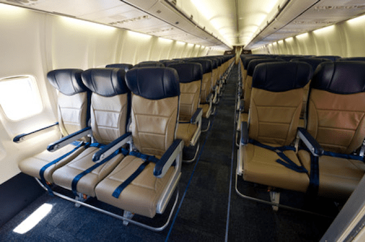 Southwest boasts some of the roomiest seats.