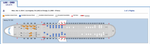 This is what a plane seat map with BusinessFirst seats will look like.
