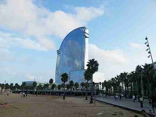 The iconic W Barcelona hotel