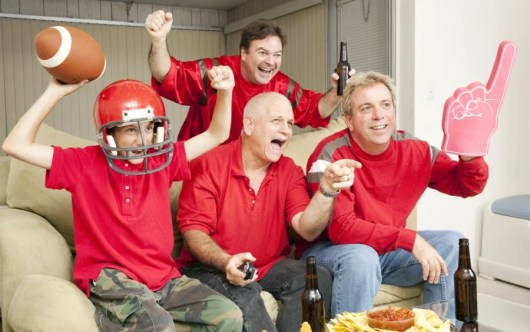 You can turn your living or family room into gameday central and earn extra points in the process! Image courtesy of Shutterstock.